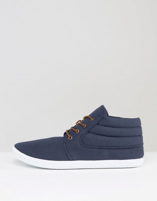 Shoe Of The Week ASOS Chukka Boots In Navy Canvas